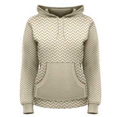 Gold And White Chevron Wavy Zigzag Stripes Women s Pullover Hoodies