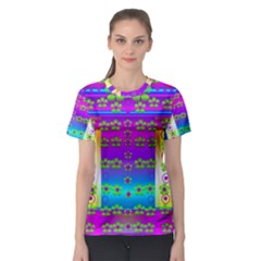Peace And Groovy Women s Sport Mesh Tee
