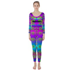 Peace And Groovy Long Sleeve Catsuit