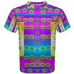 Peace And Groovy Men s Cotton Tee