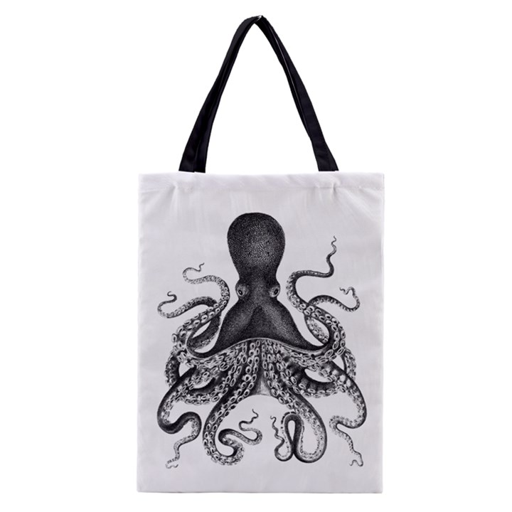 Vintage Octopus Classic Tote Bags