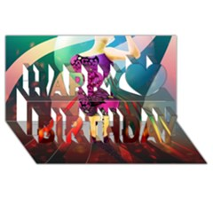 The Dreamer Happy Birthday 3d Greeting Card (8x4)