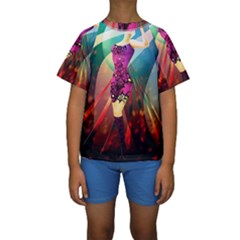 The Dreamer Kid s Short Sleeve Swimwear