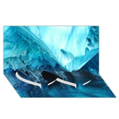 Marble Caves 3 Twin Heart Bottom 3d Greeting Card (8x4)