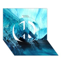 MARBLE CAVES 3 Peace Sign 3D Greeting Card (7x5)