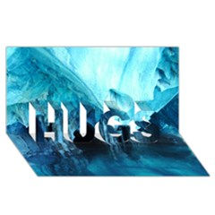 MARBLE CAVES 3 HUGS 3D Greeting Card (8x4)