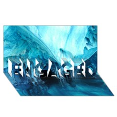 MARBLE CAVES 3 ENGAGED 3D Greeting Card (8x4)