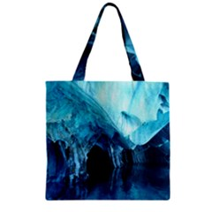Marble Caves 3 Zipper Grocery Tote Bags