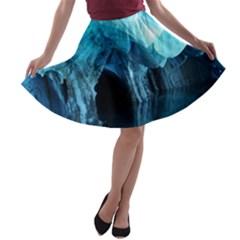 MARBLE CAVES 3 A-line Skater Skirt
