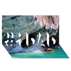 MARBLE CAVES 2 #1 DAD 3D Greeting Card (8x4)
