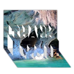Marble Caves 2 Thank You 3d Greeting Card (7x5)