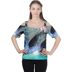 MARBLE CAVES 2 Women s Cutout Shoulder Tee