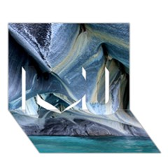 Marble Caves 1 I Love You 3d Greeting Card (7x5)