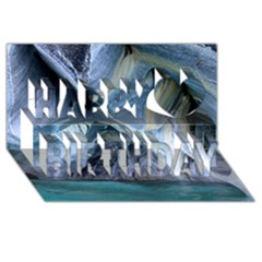 MARBLE CAVES 1 Happy Birthday 3D Greeting Card (8x4)