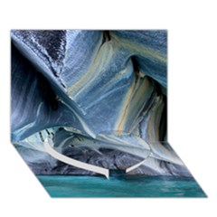 Marble Caves 1 Heart Bottom 3d Greeting Card (7x5)