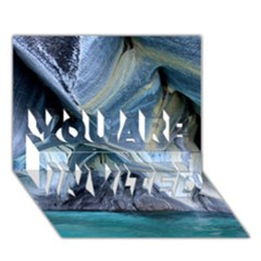 MARBLE CAVES 1 YOU ARE INVITED 3D Greeting Card (7x5)