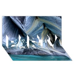 MARBLE CAVES 1 PARTY 3D Greeting Card (8x4)