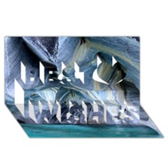Marble Caves 1 Best Wish 3d Greeting Card (8x4)