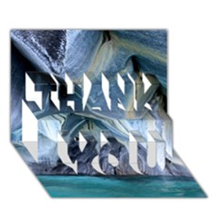 Marble Caves 1 Thank You 3d Greeting Card (7x5)