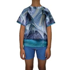 MARBLE CAVES 1 Kid s Short Sleeve Swimwear