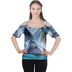 MARBLE CAVES 1 Women s Cutout Shoulder Tee