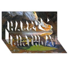 LEFT FORK CREEK Happy Birthday 3D Greeting Card (8x4)