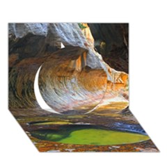 Left Fork Creek Circle 3d Greeting Card (7x5)