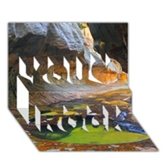 Left Fork Creek You Rock 3d Greeting Card (7x5)
