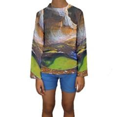 LEFT FORK CREEK Kid s Long Sleeve Swimwear
