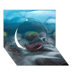 Iceland Cave Circle 3d Greeting Card (7x5)