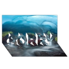 ICELAND CAVE SORRY 3D Greeting Card (8x4)