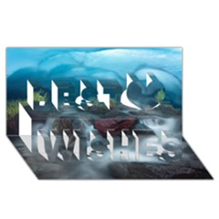 ICELAND CAVE Best Wish 3D Greeting Card (8x4)
