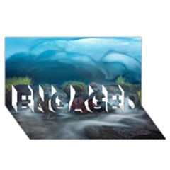 ICELAND CAVE ENGAGED 3D Greeting Card (8x4)