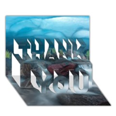 Iceland Cave Thank You 3d Greeting Card (7x5)