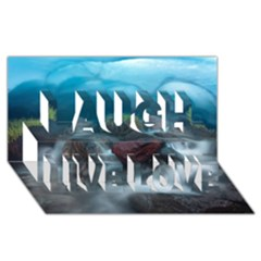 ICELAND CAVE Laugh Live Love 3D Greeting Card (8x4)