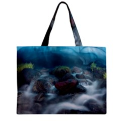 Iceland Cave Zipper Tiny Tote Bags