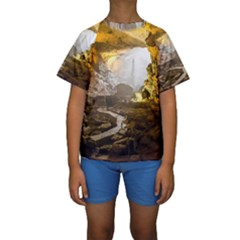 Ha Long Bay Kid s Short Sleeve Swimwear