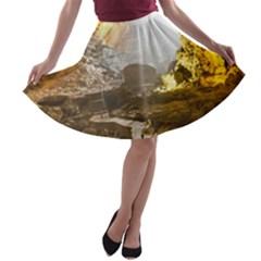 HA LONG BAY A-line Skater Skirt