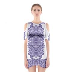 Porcelain Women s Cutout Shoulder Dress