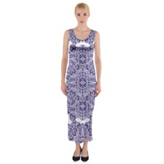 Porcelain Fitted Maxi Dress