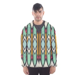 Rhombus and arrows pattern Mesh Lined Wind Breaker (Men)
