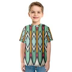 Rhombus and arrows pattern Kid s Sport Mesh Tee