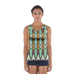 Rhombus and arrows pattern Women s Sport Tank Top