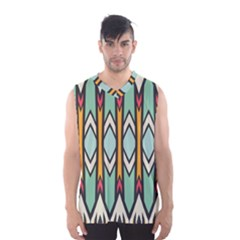 Rhombus and arrows pattern Men s Basketball Tank Top