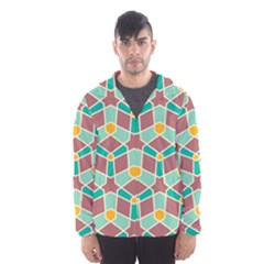Stars and other shapes pattern Mesh Lined Wind Breaker (Men)