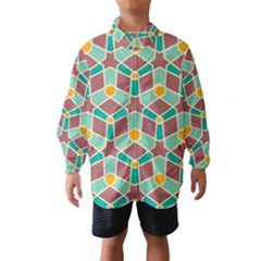 Stars And Other Shapes Pattern Wind Breaker (kids)