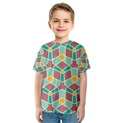 Stars And Other Shapes Pattern Kid s Sport Mesh Tee