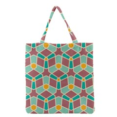 Stars And Other Shapes Pattern Grocery Tote Bag