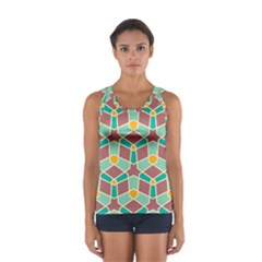 Stars And Other Shapes Pattern Women s Sport Tank Top