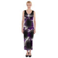 Fading holes Fitted Maxi Dress